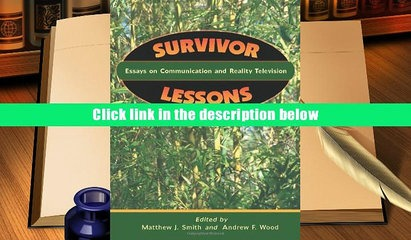 communication essay lesson reality survivor television Survivor lesson plans include daily lessons, fun activities, essay topics, test/quiz questions, and more everything you need to teach survivor.